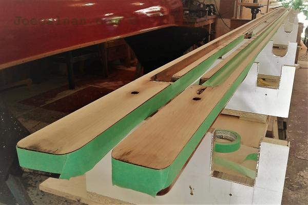 Wayfarer hollow wooden mast restoration